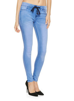 Pull On Skinny Jeans - 3074072290039