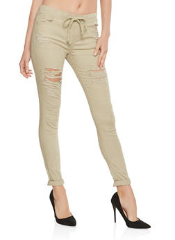 Destroyed Jeggings - 3074072290346