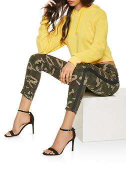 Side Tape Camo Jeans - 3074072290417