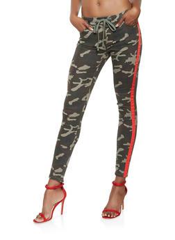 Side Stripe Tape Jeans - 3074072290442