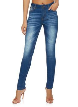 High Waisted Skinny Jeans - 3074072291133