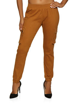 Pull On Twill Cargo Joggers - 3074072291153