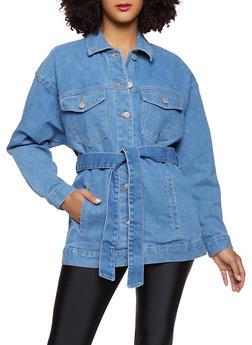 Belted Jean Jacket - 3075051067950