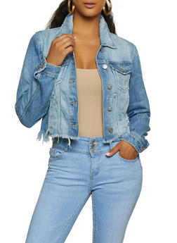 Cello Frayed Hem Jean Jacket | 3075063151202 - 3075063151202