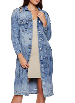 Long Destruction Jean Jacket - 3075063403337