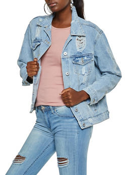 Highway Destroyed Jean Jacket - 3075071310969