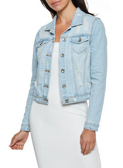 Highway Distressed Denim Jacket - 3075071310997