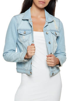 Highway Frayed Jean Jacket - 3075071315877