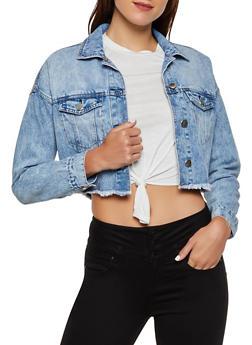 Highway Frayed Denim Jacket - 3075071317137