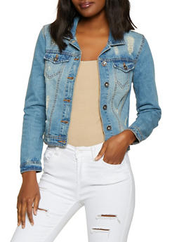Highway Distressed Jean Jacket - 3075071317990