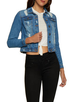 Highway Distressed Jean Jacket | 3075071318990 - 3075071318990