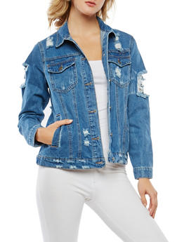 WAX Destroyed Denim Jacket - 3075071610105