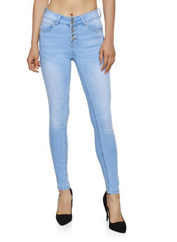 WAX 6 Button Skinny Jeans - 3075071610162