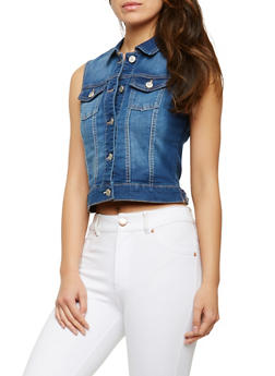 WAX Basic Denim Vest - 3075071610911