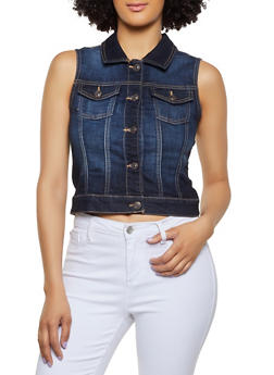 WAX Basic Denim Vest - 3075071611111
