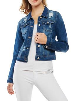 WAX Distressed Denim Jacket - 3075071618168