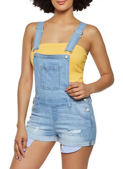 WAX Denim Bib Shortalls - 3076071617878