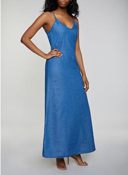Chambray Cami Maxi Dress | 3077063402331 - 3077063402331