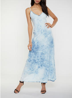 Chambray Cami Maxi Dress - 3077063402351