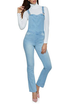 Almost Famous Flared Denim Overalls - 3078015990113