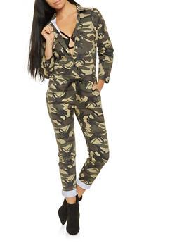 Oversized Camo Jumpsuit - 3078063409270