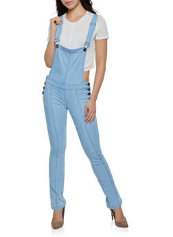 VIP Flared Denim Overalls - 3078065300704