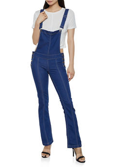 VIP Flared Denim Bib Overalls - 3078065301704