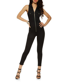 VIP Denim Zip Jumpsuit - 3078065307562