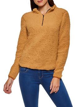 Sherpa Zip Neck Sweatshirt - 3084038344550