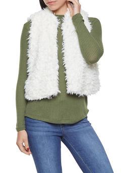 Shaggy Faux Fur Vest - 3084038349020