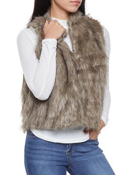Faux Fur Vest - 3084038349021