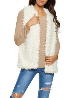 Shaggy Faux Fur Vest - 3084038349022