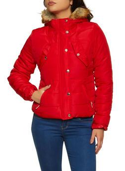 Sherpa Lined Hood Puffer Jacket - 3084051067740