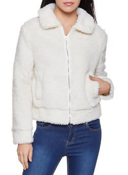 Collared Sherpa Jacket - 3084051067753