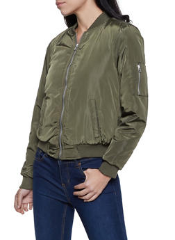 Sherpa Lined Bomber Jacket - 3084051067807