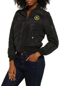 Patch Sherpa Lined Bomber Jacket - 3084054261550