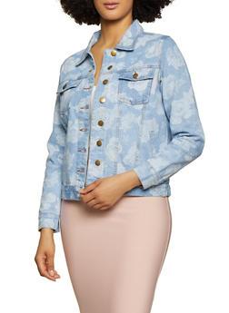 Floral Denim Jacket - 3086038340102