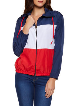 Love Color Block Windbreaker Jacket - 3086038344509