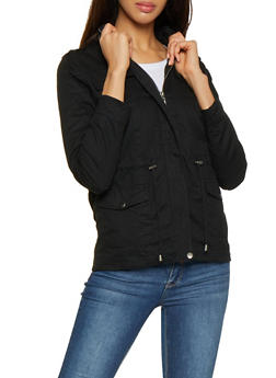 Hooded Twill Anorak Jacket - 3086051061090