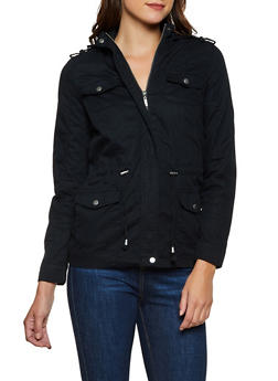 Solid Twill Anorak Jacket - 3086051061092