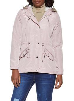 Sherpa Lined Nylon Anorak Jacket - 3086051066620