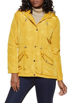 Sherpa Lined Nylon Anorak Jacket - 3086051066620