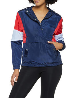 Half Zip Color Block Windbreaker - 3086051067228