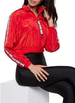 Queen Tape Windbreaker Jacket - 3086051067260