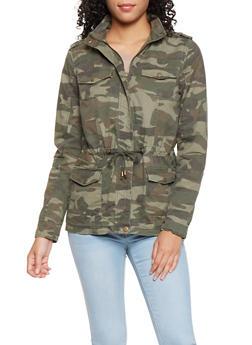 Hooded Camo Anorak Jacket - 3086051067640