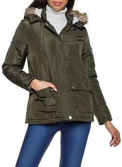 Sherpa Lined Hood Puffer Coat - 3086051067779