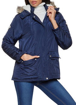 Sherpa Lined Hood Puffer Coat - 3086051067779