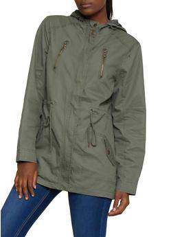Twill Drawstring Jacket - 3086051067797
