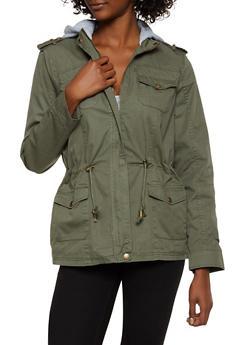 Fleece Lined Hood Anorak Jacket - 3086051067805