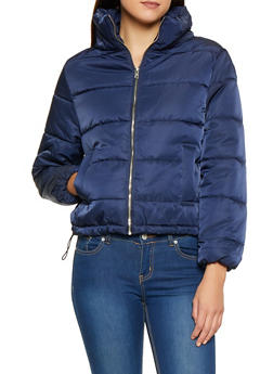 Zip Up Puffer Jacket - 3086054260566